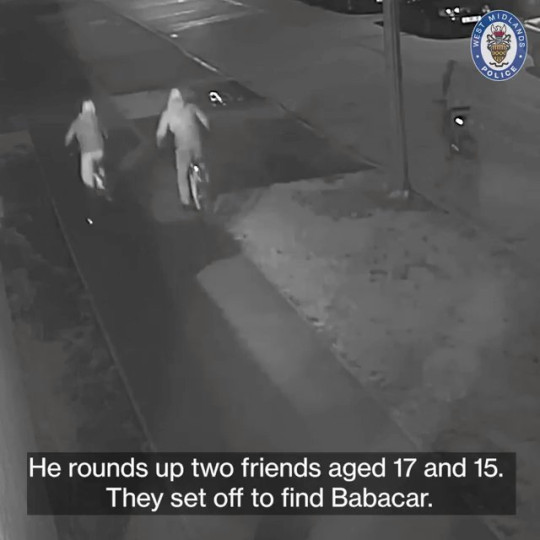 Video grab form CCTV footage showing the circumstances around the murder of Babacar Diagne in Wood End, Coventry,