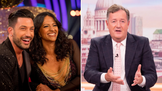 Strictly Come Dancing pro Giovanni Pernice and Piers Morgan