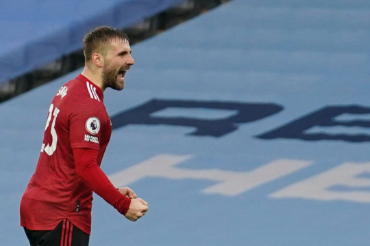 Luke Shaw was an unlikely goalscorer in Manchester United's win over their local rivals