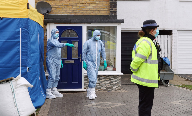 Forensic officers outside a house in Freemens Way in Deal, Kent, after detectives hunting for Sarah Everard, who has been missing since last Wednesday, arrested a Metropolitan Police officer at an address in the county. Picture date: Wednesday March 10, 2021. PA Photo. See PA story POLICE Missing. Photo credit should read: Steve Parsons/PA Wire