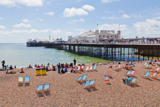 beach, Brighton Pier, seaside resort, Brighton, Sussex, England, Great Britain
