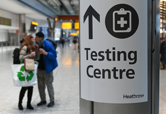 Covid-19 testing centre at Heathrow Airport