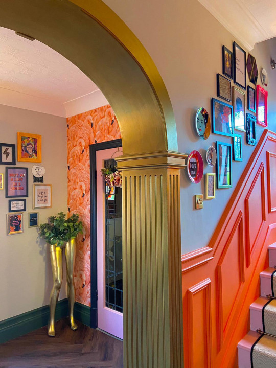 kimberley's hallway after its makeover