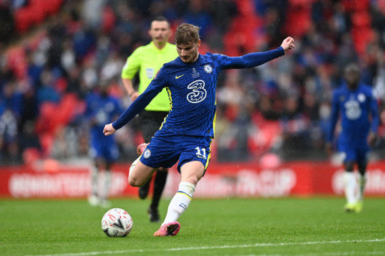 Timo Werner endured a frustrating afternoon in his maiden FA Cup final appearance for Chelsea