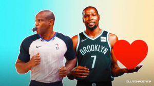 Kevin Durant Tony Brown Nets cancer NBA referee