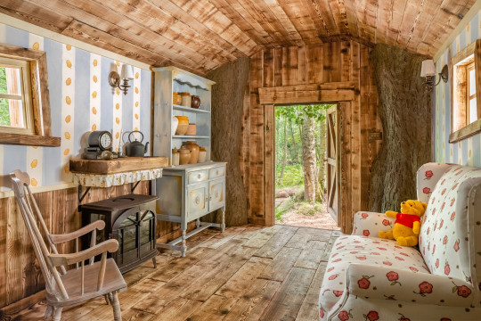 A Winnie the Pooh inspired house in the Hundred Acre Wood is available to book on Airbnb as part of Disney s 95th Anniversary celebrations of the loveable children s character. Hosting the Airbnb stay is Disney-appointed Winnie the Pooh illustrator, Kim Raymond, who curated the house and has been drawing the iconic bear for over 30 years. Kim brought Pooh s house to life taking inspiration from the original decorations of E.H. Shepard. The house is situated in Ashdown Forest, the inspiration for A.A. Milne's Hundred Acre Wood and alongside the charming references to the original Pooh tales, the house is fully kitted out for guests to enjoy a relaxing family stay. Kim will host two separate one night stays on the 24 and 25 September for just ??95 per night bookable only on Airbnb via airbnb.com/winniethepooh. Airbnb anticipates a very high level of interest and available booking dates will go live at 2PM BST on Monday 20 September. 14 Sep 2021 Pictured: Winnie the Pooh. Photo credit: Henry Woide/Airbnb/MEGA TheMegaAgency.com +1 888 505 6342