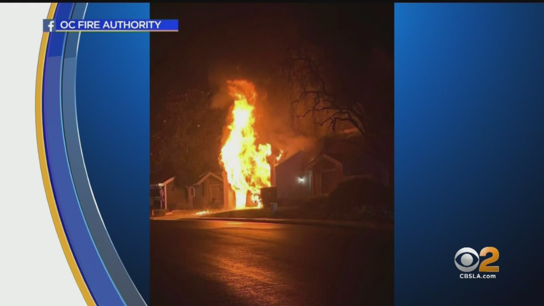 Dramatic Picture Captures Aliso Viejo Home On Fire After